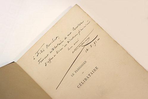 Octave Uzanne. Le Paroissien du célibataire (1890). Envoi autographe. Reliure