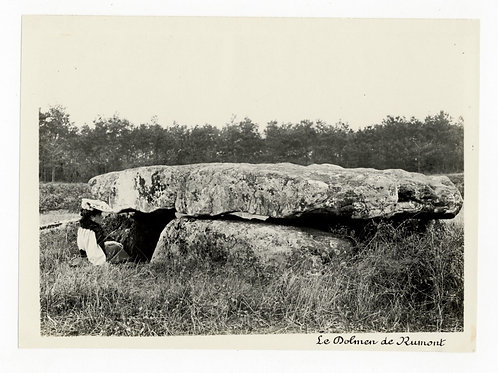 Photographie ancienne vers 1910 Dolmen de Rumont près Nemours Seine et Marne
