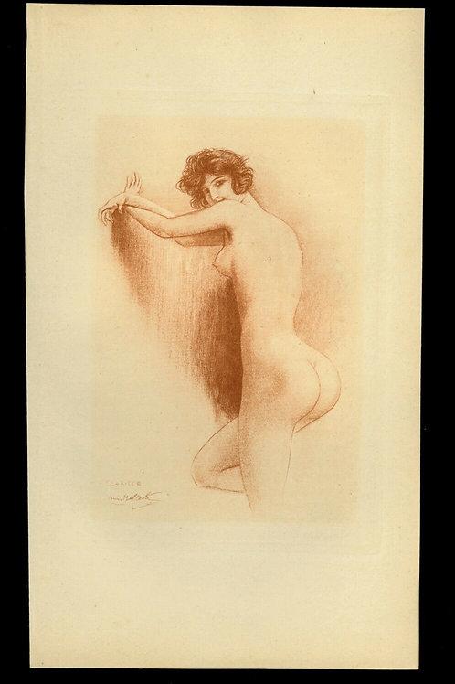 1923 Louis Malteste héliogravure époque sanguine vélin teinté curiosa