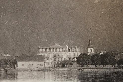 Villeneuve Hôtel du Port Suisse Canton de Vaud CPA comme neuve non voyagée