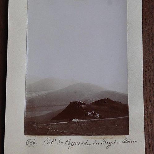 Photographie ancienne 1899 Puy-de-Dôme Col de Ceyssat Massif central