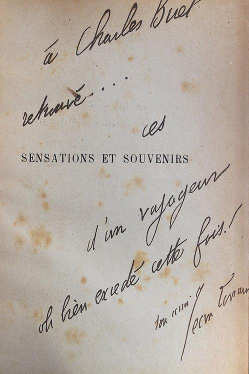 Sensations et Souvenirs par Jean Lorrain (1895). Envoi autographe à Charles Buet