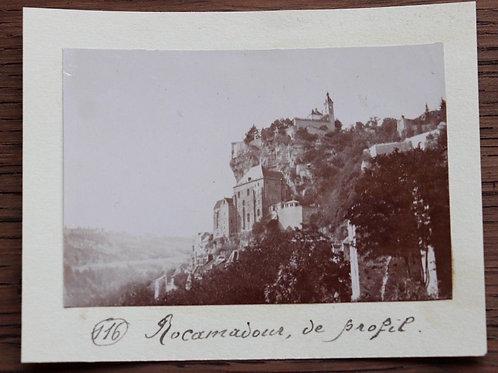 Photographie ancienne 1899 Vue de Rocamadour Village médiévale Lot