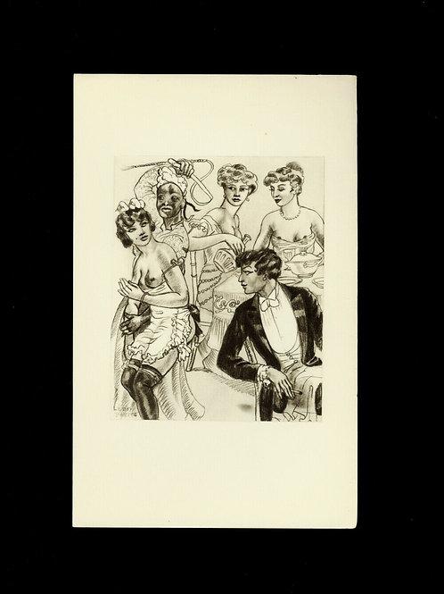 1932 Léon Pierre Mrs Goodwhip esclave héliogravure Fouet Fessée bdsm curiosa