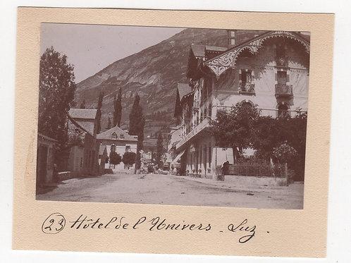 Photographie ancienne 1899 Luz Hautes Pyrénées Montagne Hôtel Univers