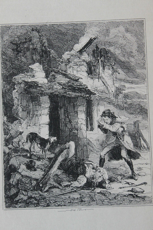 1880 Gravure Phiz Chronicles of crime, Bowke finds his father killed