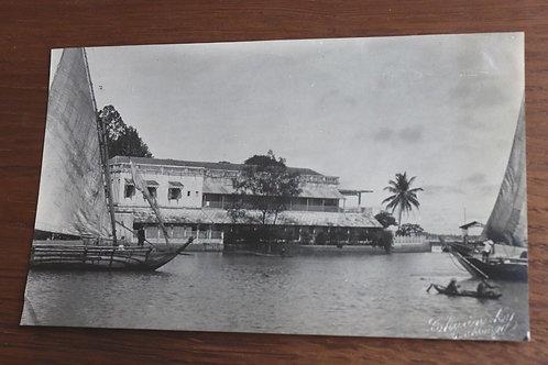 Photographie ancienne 1937 Viêt Nam Vinh long Bungalow Mékong 17 x 10 cm