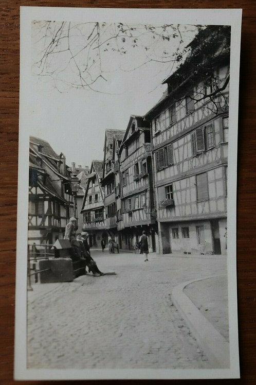 Photo ancienne 1930 Strasbourg Alsace