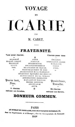 Le rêve américain d'Etienne Cabet ou quand l'utopie politique rencontre le bibliophile.