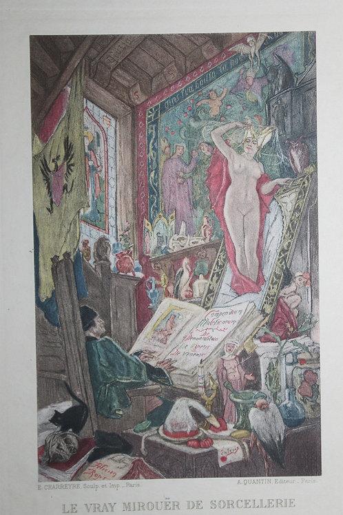 1884 Félicien Rops Mirouer de Sorcellerie Charreyre sur japon