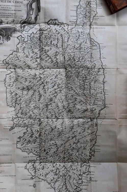Jaussin / Vaugondy. Mémoires historiques et politiques sur l'île de Corse (1758)