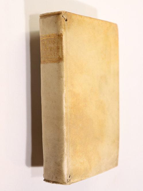 Robinet. De la Nature. 1762. Matérialisme et métaphysique. Sciences naturelles.