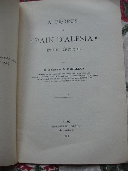 1908 Pain d'Alesia étude critique par Morillot