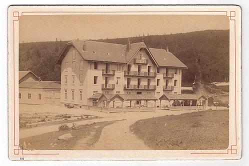 Photographie ancienne Albumen print N. D. France Vosges Schlucht Hôtel Defranoux