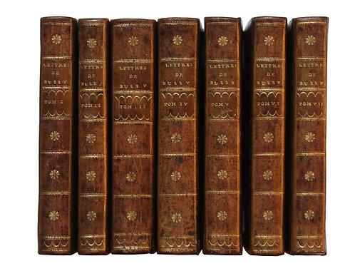 Bel exemplaire des Lettres de Bussy-Rabutin (1737-1727).