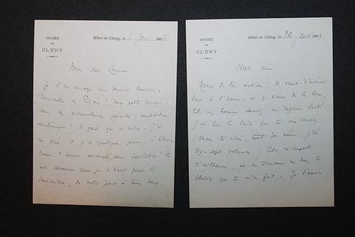9 lettres autographes d'Edmond Haraucourt à Octave Uzanne (1885-1909).