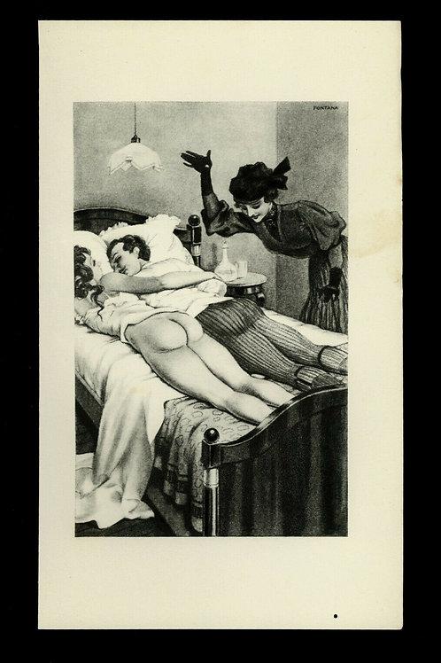1933 Léo Fontan Fontana illustration héliogravure Fouet Fessée