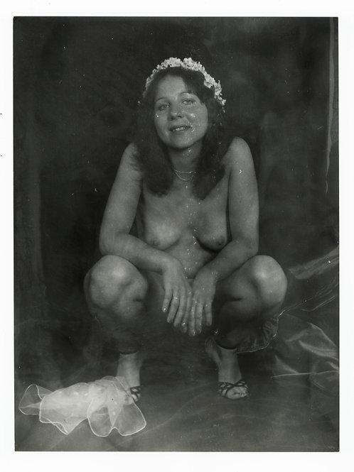 Photographie Amateur Vintage Nu féminin vers 1965. Ref. 940