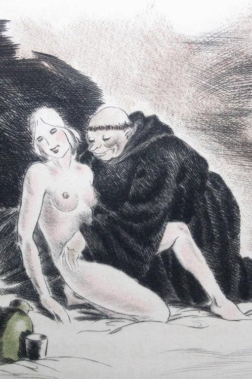 Les Deux Testaments de Maistre François Villon (1944) illustré par Maurice Leroy