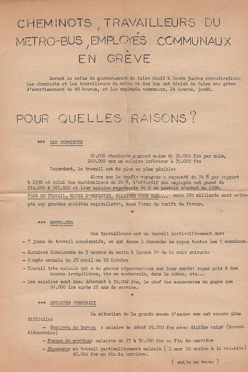 Tract du Parti Communiste Français (Montreuil, 1956). Ephemera