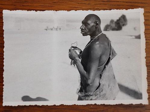 """Photo ancienne vers 1930 Maroc Afrique """"Homme Singe"""" de Skoura Ouarzazate"""