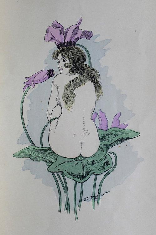 Les Fleurs passionnées d'Edmond Rocher (1902). Superbes femmes-fleurs