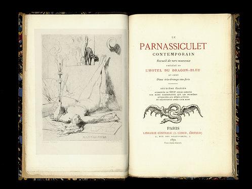Delvau. Daudet. Renard. Le Parnassiculet Contemporain (1872). Eau-forte étrange