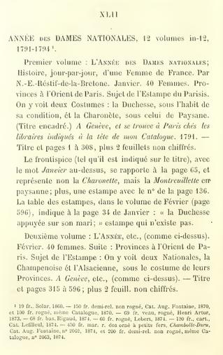 Etat complet des illustrations pour les Provinciales de Rétif de la Bretonne (1791-1794).