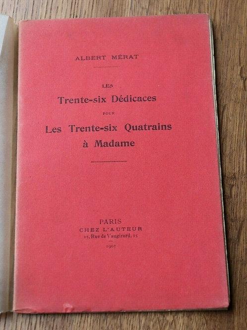 1903 Trente-six dédicaces Mérat EO Poésie littérature