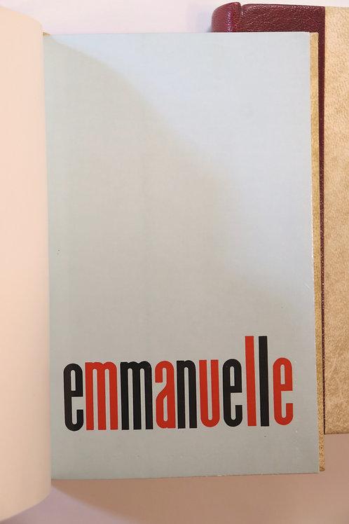 Emmanuelle Arsan. Emmanuelle. L'Anti-Vierge. 1967-1968. Belle reliure époque