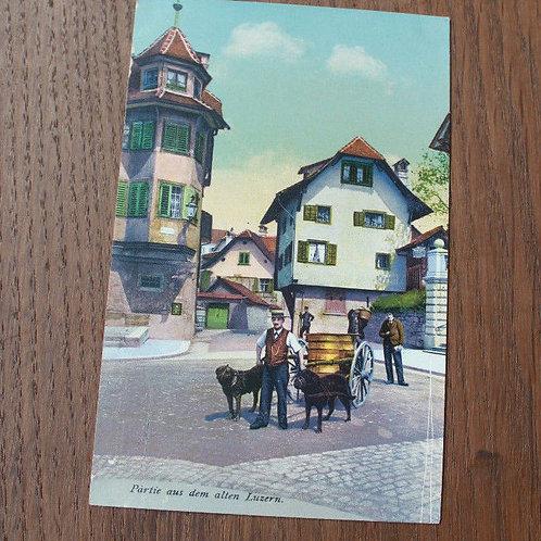 CPA couleur Partie aus dem alten Luzern Lucerne Suisse