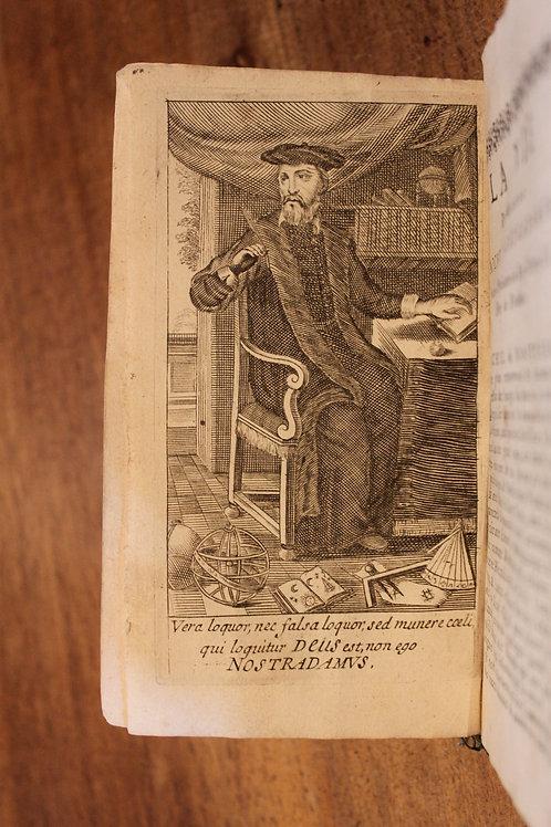 Nostradamus. Les Vrayes Centuries et Prophéties (1668). Rare cartonnage ancien