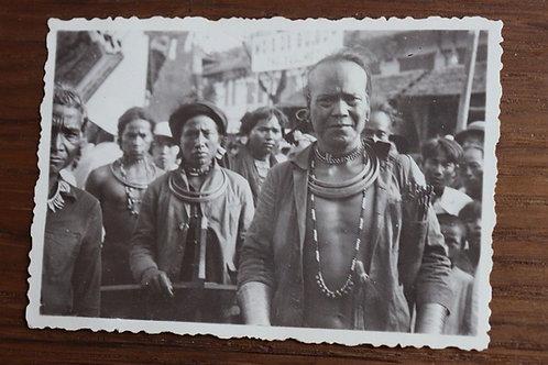 Photographie ancienne 1937 Viêt Nam Vinh Long Hommes Moï
