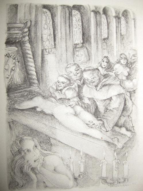 Les Infortunes de la Vertu par le Marquis de Sade. Illustrations de Gourari