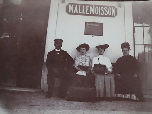 Photographie ancienne 1905 femmes chef de gare Gare Mallemoisson Haute-Provence