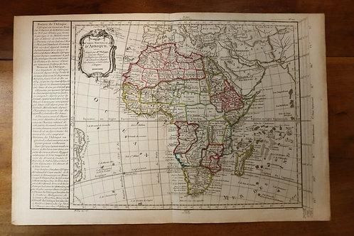 1765 1770 Map Carte géographique Atlas Philippe Prétot Moithey Afrique Africa
