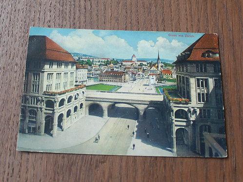 CPA couleur Gruss aus Zürich Suisse