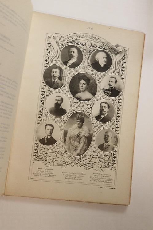 Album-Souvenir de la Société Héraldique de France (1913). 70 portraits. Rare