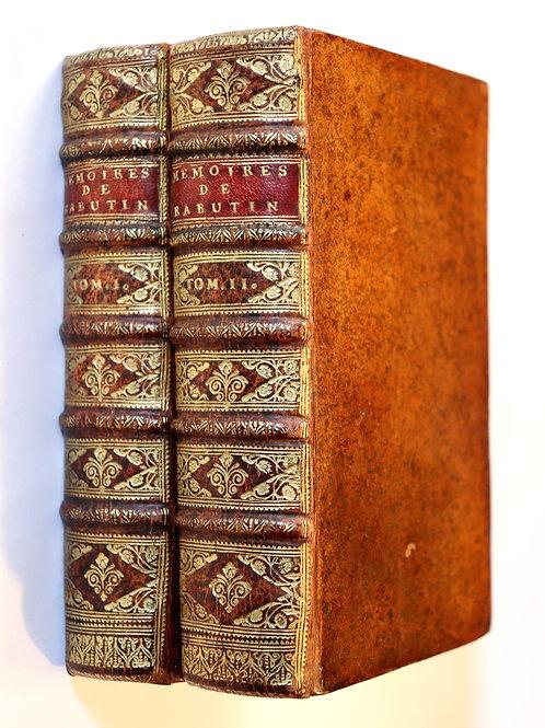 Bussy-Rabutin. Mémoires (1697). Discours à ses enfants. Superbe exemplaire.