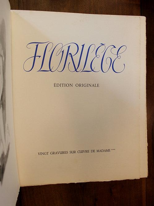 Amandine Doré. Florilège (Poésies érotiques). 20 gravures érotiques sur cuivre