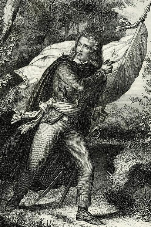 CATHELINEAU 1840 / 1850 Portrait révolution française Belle Gravure acier