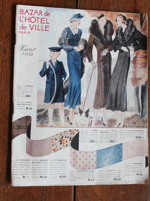 Catalogue 1935 Bazar Hôtel de Ville Paris Grands Magasins