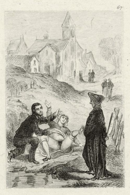 Estampe érotique (gravure sur cuivre) vers 1870-1880 ? N°8