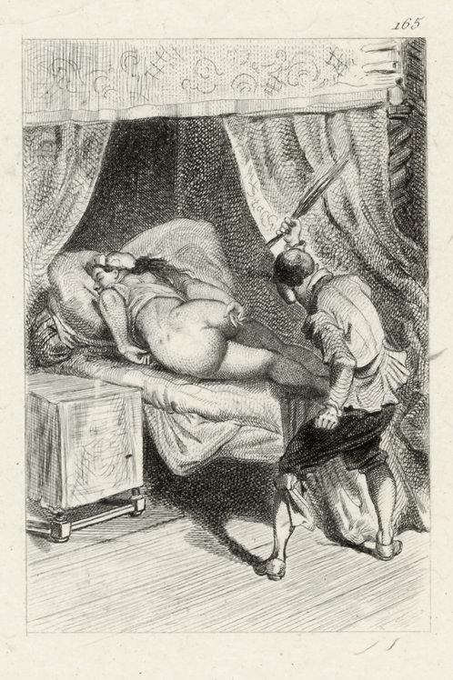Estampe érotique (gravure sur cuivre) vers 1870-1880 ? N°5