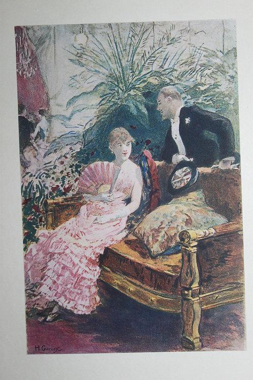 Estampe originale en couleurs d'après Henri Gervex. La Parisienne (1884)