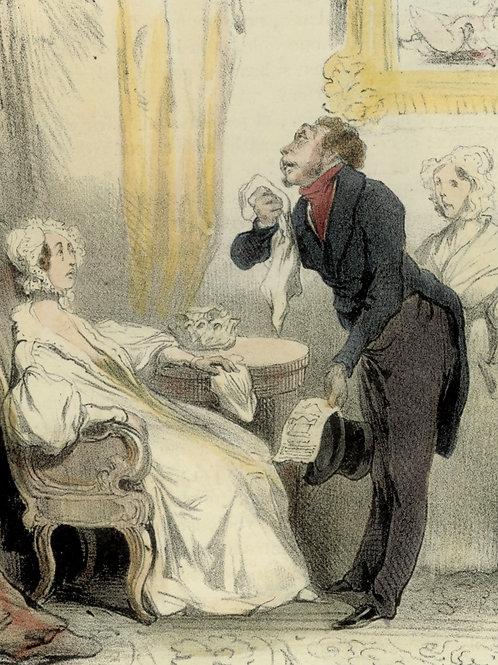1839 Daumier Les Robert-Macaire Planche n°53 Caricature XIXe coloris époque rare