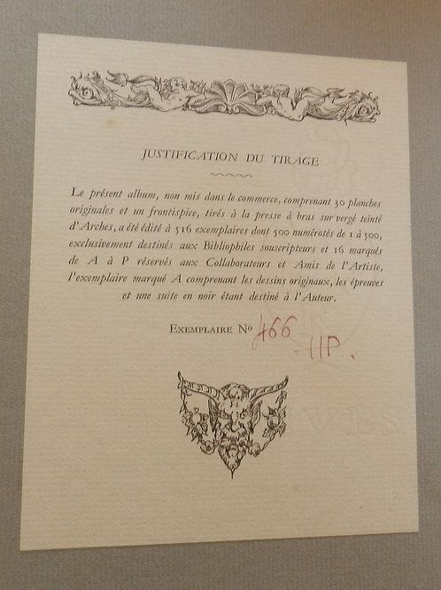 Idylle Printanière (1934). Pasquinelli, tirage à 500 ex des 30 lithographies