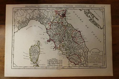 1765 1770 Map Carte géographique Atlas Philippe Prétot Vallet Corse Italie Italy
