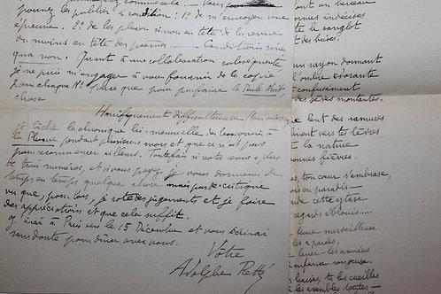 Adolphe Retté. Lettre autographe à Achille Segard (1896). Anarchie. Poème