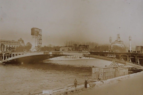 Paris 1900 Photographie ancienne Exposition Universelle 1900 Seine Péniches